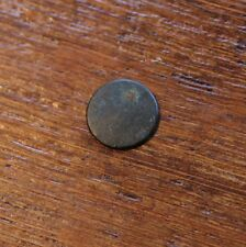 "Antique Military Uniform Button Marked ""Rich Gold Colour"" on Back / Blank Front"
