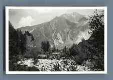 France, Le Tour du Mont Blanc et son Glacier  Vintage silver print.  Tirage ar
