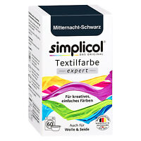 SIMPLICOL Textilfarbe EXPERT MITTERNACHT SCHWARZ 150g Farbe für Wolle & Seide