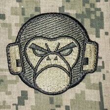 ANGRY MONKEY FACE LOGO TACTICAL COMBAT MILSPEC ARMY MORALE ACU DARK HOOK PATCH