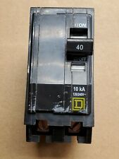 Square D  40 amp, double pole, snap in breaker