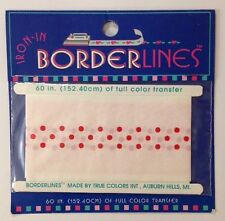 "BORDERLINES RED POKA-DOTS IRON-IN/ON INK TRANSFER(60"") Christmas•Holiday•Fabric"