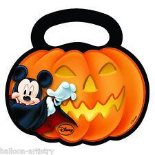 6 Halloween Disney Mickey Mouse Fiesta Plástico Regalo favor Calabaza botín Bolsas