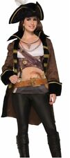 Pirate Jacket and Shirt Costume Adult Female Womens Faux Leather Buccaneer Jack