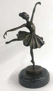 Bronze Skulptur Kinder Ballerina Ballett Tanz Tänzer Pokal Hot Guss Statue