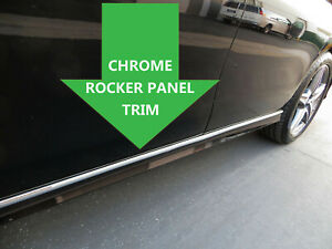 FOR MERCEDES-BENZ ROCKER PANEL Body Side Molding CHROME Trim 2pc - 1999-2006