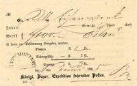 """BAYERN 1865, """"TITTMONING"""" HKS Kab.-Fahrpost-Aufgabe-Schein, Scheingebühr 3 Kr."""