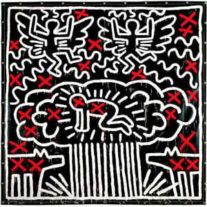 Keith Haring UNTITLED, 1983 Limited Edition High Quality Giclee Print 9x12