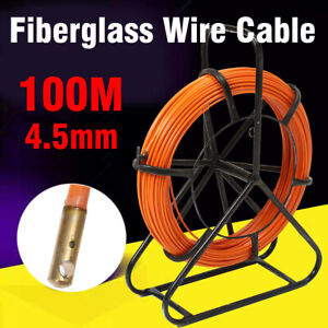100M 4.5mm Aiguille Fibre de Verre Tire Fiberglass Câble Traînage Électricien