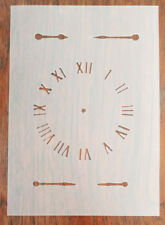 A5 Clock Face Stencil Reusable PP Sheet for Arts & Crafts, DIY