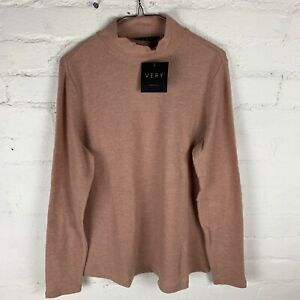 V by Very Long Sleeve High Neck Soft Touch Loungewear Top, Camel UK16