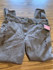 Equine Couture Womens Riding Pants Size 32 NWT Brown Design Front