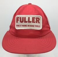 Vtg Fuller First Name In Hand Tools Patch Front Snapback Mesh Back Trucker Hat