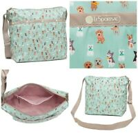 LeSportsac Party Pups Small Cleo Crossbody Handbag, Adorable Dogs/Puppies NWT