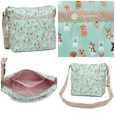 LeSportsac Party Pups Small Cleo Crossbody Handbag, Adorable Dogs/Puppies NWT