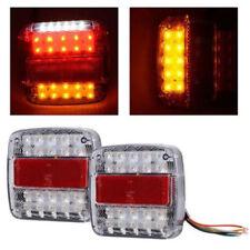 26LED Stop Rear Tail Reverse Light Indicator License Plate Lamp Truck Trailer EL