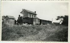 PHOTO ANCIENNE - VINTAGE SNAPSHOT - GARE TRAIN NOYERS ST MARTIN - STATION 1948
