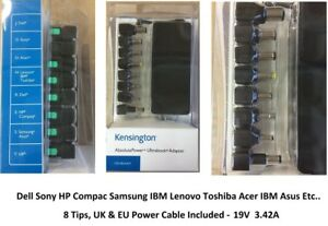 Kensington Universal Laptop AC Charger 19V 3.42A Dell Sony HP Samsung IBM Lenovo