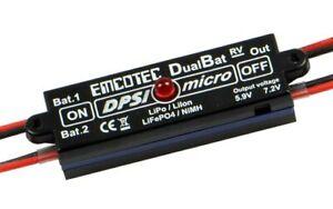 Emcotec / iRC DPSI Micro DualBat 5.9V/7.2V JR Akkuweiche Doppelstromversorgung