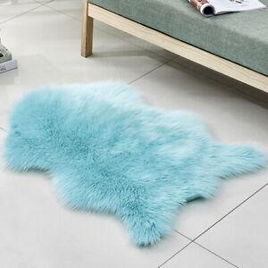 Wool Carpet Shag Area Rugs Cushion Floor Mat Living Room Bedroom Fluffy Rugs New