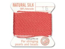 Sale is for 2 Griffin Silk Beading Cord & Needle Sz#16-Coral