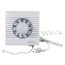 Wohnraumventilator 100erR mit Zugschalter und Netzstecker für Wand Bad Toilette