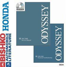 2007 2008 2009 Honda Odyssey Shop Service Repair Manual CD