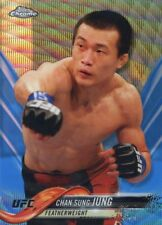 2018 Topps UFC Chrome CHAN SUNG JUNG KOREAN ZOMBIE Blue Wave Refractor Card #/75