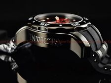 Invicta Men's 48mm Black Combat Fire Red Pro Diver Scuba Chronograph Strap Watch