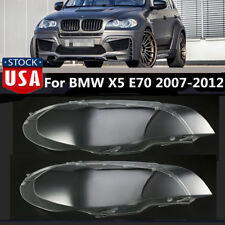For BMW X5 E70 2007-12 Headlight Lens Lamp Cover Headlamp Shade Right/Left Pair