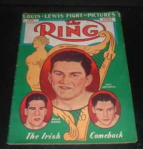 RARE vintage 1939 THE RING MAGAZINE, joe louis, billy conn, wrestling, etc.