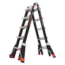 LITTLE GIANT 15145-001 Multipurpose Ladder,Fiberglass,22 ft.