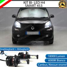 KIT LED H4 6000K SMART FORTWO 453 18000 LUMEN CANBUS XENO XENON 100% NO ERRORE