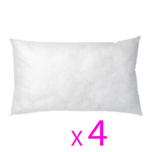 "4 PACK Rectangle Boudoir Scatter Cushion Inner 12"" x 22"""