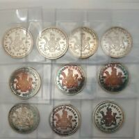 Lot of 10 - 1971 Canada Silver Dollars UNCIRCULATED Coins #coinsofcanada