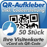 QR Code Aufkleber, Ihre Visitenkarte als QR-Code, 50 Stück, 10x10 cm, wetterfest