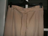 BNWT Ladies Linen Mix Trousers Size 12.
