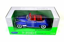 Welly 1941 Chevrolet Chevy Special Deluxe  Blue 1/24 Diecast Car 22411