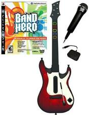 NEW PS3 Wireless Guitar Hero 5 Guitar, Band Hero Game & Microphone Bundle Kit
