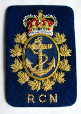 Canada Royal Canadian Navy RCN  Blazer Crest Badge Hand Embroidered 1953-1968