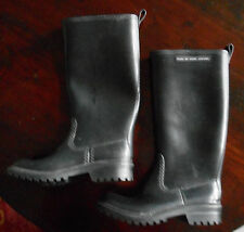 Marc by Marc Jacobs Womans Black RubberTall Rain Boots-US 7/Eu 37- Made in Italy