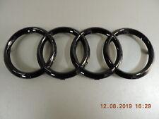 Original Audi Q7  Emblem Ringe Zeichen Emblem im Kühlergrill schwarz glänzend 4M