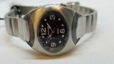 Vintage Freestyle Sports Watch Ladies Womens Black Dial Tags Silver Retail $115