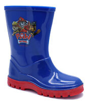 BOYS KIDS CHILDRENS BLUE PAW PATROL WELLIES WELLINGTONS SPLASH BOOT SIZES 4-10