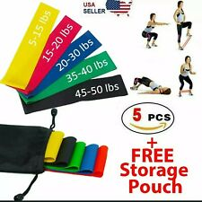 Workout Resistance Loops Band Set Strength Fitness Gym Yoga Workout