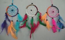 3er Set Dreamcatcher 8 cm x 23 cm Traumfänger Windspiel Regenbogen Rainbow Farbe