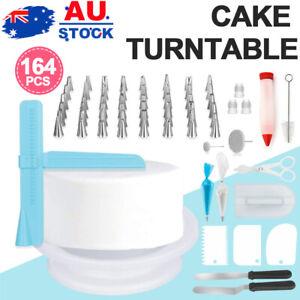 164PCS  Cake Decorating Set Kit Baking Supplies Spatula Turntable Stand Nozzles