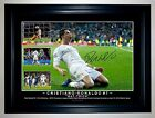 Cristiano Ronaldo Hat-Trick Real Madrid Soccer Framed Signed Photo Collage