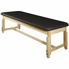 MT Massage 28 inch Harvey Treatment Clinical Stationary SPA Table Bed Black