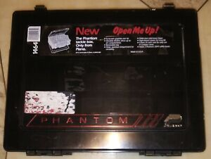 Vintage Plano Phantom III Storage Fishing Tackle Organizer Box Double Sided Exc.